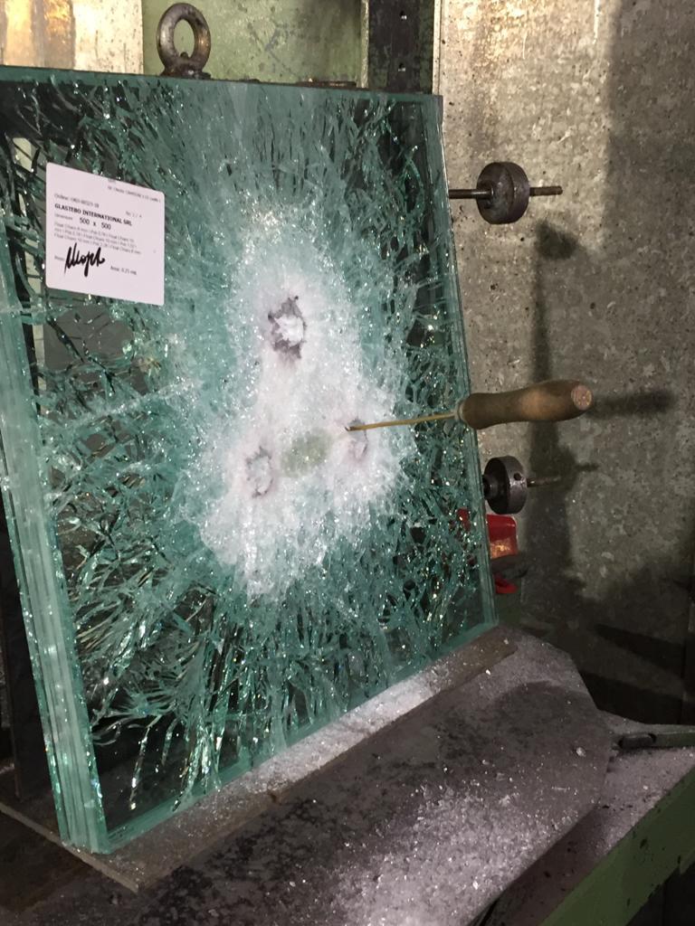 test vetro anti-proiettile